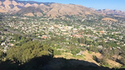 "ON THE M The iconic ""M"" on Cerro San Luis offered unimpeded views of SLO and Edna Valley. - PHOTO BY PETER JOHNSON"