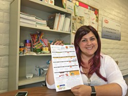 NEW LEADER Erin Primer, director of food services at San Luis Coastal Unified School District, revamped the district's food program to serve more locally sourced food at a higher quality. - PHOTO BY PETER JOHNSON