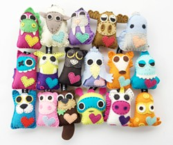 GOTTA STITCH 'EM ALL With two new critters released every month, the number of TubbyWubby kits to sew is limitless. - PHOTO COURTESY OF REBECCA RUGGLES