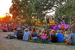 GOLDEN HOUR BarrelHouse Brewing's new grass bowl venue offers a magical setting for intimate outdoor concerts. - PHOTO BY GLEN STARKEY
