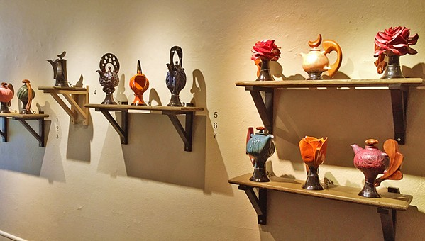 BREAKING THE MOLD Orcutt artist Don Frith's unique teapots are on display in an exhibit at the San Luis Obispo Museum of Art through Oct. 29. Frith wrote Mold Making for Ceramics in 1985, a definitive book on the art form, which is still used today. - PHOTO COURTESY OF SAN LUIS OBISPO MUSEUM OF ART