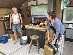 20 YEARS LATER After leaving her husband Ulysses (Tom Ammon) in the middle of the night years ago, Emma (Jenny Shaheen) tracks him down in a trailer park in Colorado. - PHOTO COURTESY OF WINE COUNTRY THEATRE