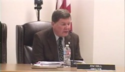 UNDER PRESSURE Arroyo Grande Mayor Jim Hill is facing increasing calls to step down from his seat on the South SLO County Sanitation District after the results of a misconduct investigation. - PHOTO BY CHRIS MCGUINNESS