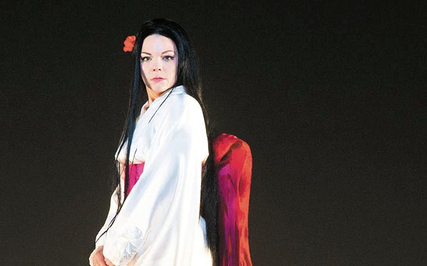 BEING THE BUTTERFLY Opera SLO's production of Giacomo Puccini's Madama Butterfly stars Rena Harms as the title character, a young Japanese girl married off to an early 20th century American naval officer who leaves her behind, pregnant and alone. - PHOTO COURTESY OF TOM BOWLES