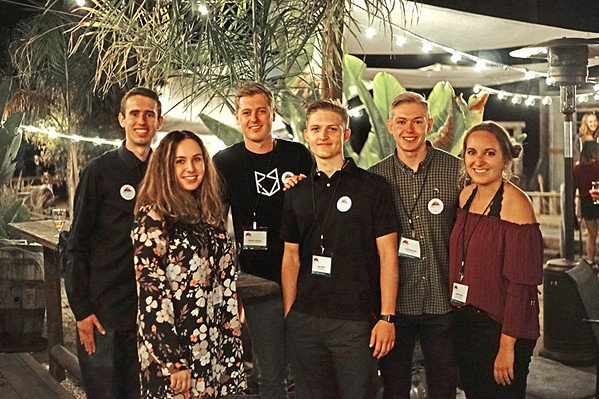 HANDS ON Poly Canyon Ventures held its launch party on Oct. 5 at Bang the Drum Brewery in SLO to inform the public of their mission to help student startups gain footing. - PHOTO COURTESY OF POLY CANYON VENTURES