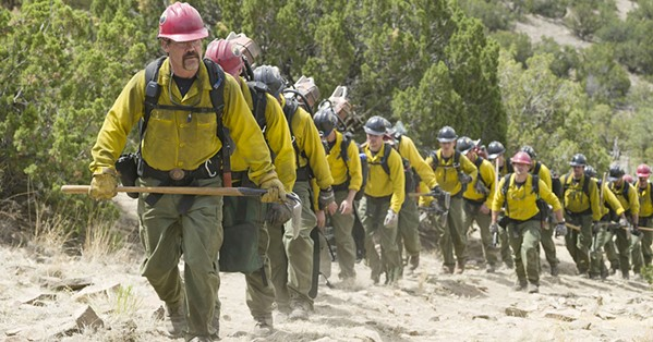 BECOMING ELITE The Granite Mountain fire crew, led by Eric Marsh (Josh Brolin, foreground), became the first municipal Hotshots crew, the pinnacle of elite wildfire firefighters. - PHOTO COURTESY OF BLACK LABEL MEDIA