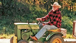 SLOW RIDE Alvin Straight (Richard Farnsworth) travels from Iowa to Wisconsin on a lawn mower in David Lynch's The Straight Story (1999). - PHOTO COURTESY OF WALT DISNEY PICTURES