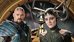 THE EVILEST Skurge (Karl Urban) reluctantly joins Hela (Cate Blanchett), the Goddess of Death, in her evil plan to destroy Asgard. - PHOTO COURTESY OF MARVEL ENTERTAINMENT