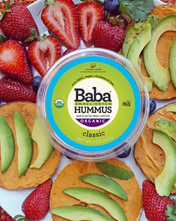 DELICIOUS DEEDS Popular SLO County company Baba Small Batch Hummus was able to avoid using a costly third party co-packer thanks to local funding secured by nonprofit Slow Money SLO. - PHOTO COURTESY OF BABA SMALL BATCH HUMMUS
