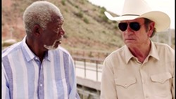 TROUBLE IN PARADISE In Just Getting Started, rivals Duke (Morgan Freeman) and Leo (Tommy Lee Jones) must put aside their differences to save the Villa Capri and Duke's life. - PHOTO COURTESY OF BROAD GREEN PICTURES