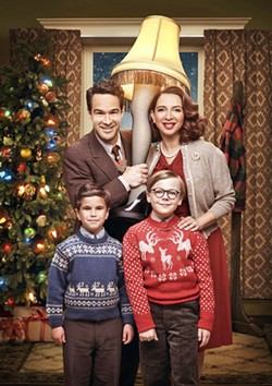 HAPPY HOLIDAYS A Christmas Story Live! is the musical version of the beloved holiday story, featuring stars like Chris Diamantopoulos (Silicon Valley) and Maya Rudolph (Bridesmaids) along with newer talent like Tyler Wladis as Randy and Andie Walken as Ralphie. - PHOTOS COURTESY OF FOX