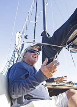 WATER LIVING An increase in the cost of living has CC Rider thinking twice about living on his boat in the Port San Luis Harbor. - PHOTO BY JAYSON MELLOM
