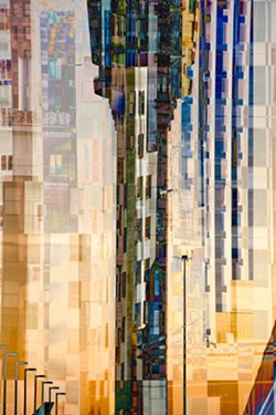 LIGHT Tower of Control by SLO artist Bryn Forbes is a fascinating barrage of color and reflection within a cityscape. - IMAGE COURTESY OF BRYN FORBES