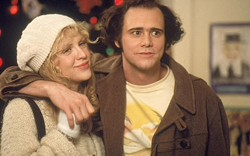 COOL COUPLE Jim Carrey plays Andy Kaufman and Courtney Love plays Lynne Margulies, Kaufman's longtime girlfriend, in Man on the Moon. - PHOTO COURTESY OF UNIVERSAL PICTURES