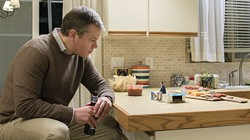 GET SMALL In Downsizing, Paul (Matt Damon, left) tries to get more out of life by being shrunk down to just five inches tall. - PHOTO COURTESY OF PARAMOUNT PICTURES