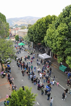 Safety first San Luis Obispo is formulating a plan to better protect its weekly farmers' market and other downtown events from possible vehicle attacks. - FILE PHOTO BY DYLAN HONEA-BAUMANN