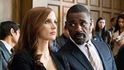 GAMBLE Learn the true story of Molly Bloom (Jessica Chastain, left), an Olympic skier who was busted for running a poker game that included members of the Russian mafia, in Molly's Game. - PHOTO COURTESY OF STX FILMS