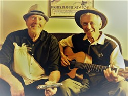 TWO BLUES The Duo-Tones—Johnny Johnson (left) and Ted Waterhouse—play Puffers of Pismo on Jan. 12. - PHOTO COURTESY OF THE DUO-TONES