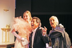 LEND ME AN ACTRESS (Left to right) Ali Rahim, Daniel Freeman, and Nancy Green act in a SLO Little Theatre production of Lend Me A Tenor in 2008—which happens to be Green's favorite play. - PHOTO COURTESY OF SLO REPERTORY THEATRE
