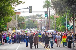 "STILL FIGHTING The Women's March SLO will hold a ""hear our vote"" rally on Jan. 20, just one day short of the one-year anniversary of the organization's 2017 march. - FILE PHOTO BY JAYSON MELLOM"