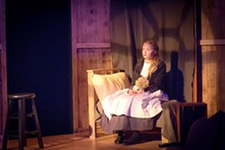 DOWN, BUT NOT OUT Alone in her room, Sara Crewe (Sienna Ritter) dreams of better days after her father's untimely death leaves her orphaned and penniless in A Little Princess. - PHOTO COURTESY OF RYLO MEDIA DESIGN