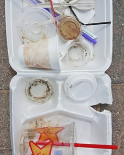TAKING OUT THE TRASH Surfrider's Ocean Friendly Restaurant Program works with restaurants to implement ocean friendly practices and policies that reduce disposable plastic waste way before it travels out to sea. - PHOTO COURTESY OF SURFRIDER