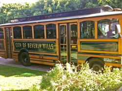MAGIC BUS A trolley bus got us from place to place during the 2018 Walking with Giants Tour. - PHOTO COURTESY OF WESTON SCOTT
