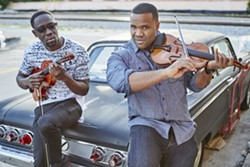 CLASSICAL BOOM! Black Violin, a hip-hop and classical mash-up duo, brings their virtuosic musicianship and socially conscious message to the PAC in SLO on Feb. 17. - PHOTO COURTESY OF COLIN BRENNAN