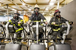TIP TOP SHAPE In order to become a career firefighter, reserve firefighters must complete as much training as a full-time firefighter with less compensation. - PHOTO BY JAYSON MELLOM