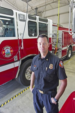 DIFFERENT COMMUNITIES The Templeton Fire and Emergency Services Fire Chief Bill White is working to fund a minimum number of firefighters to serve his community. - PHOTO BY JAYSON MELLOM