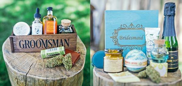 GIFTS THAT KEEP ON GIVING Send your besties home in style with bud-centric groomsmen and bridesmaids gifts. - PHOTO COURTESY OF KIEL RUCKER PHOTOGRAPHY