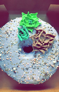 DOUGHNUT ART More and more brides and grooms are choosing doughnuts for their weddings, and several shops in SLO County can custom design their sweet treats for the occasion. - PHOTO COURTESY OF SONDRA WILLIAMS