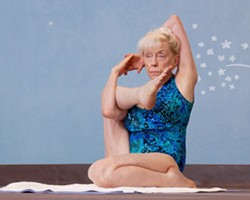 "THE YOGINI Russian occupation survivor Emmy Cleaves, 85, said, ""It's not your numerical age; it's your biological age, so think young, act young, feel young, forget the number."" - PHOTO COURTESY OF SKY BERGMAN"