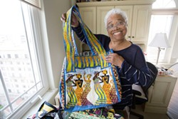 "THE DANCER Fabric artist and dancer Blanche Brown, 78, said, ""Life goes by so quickly, and most young people are in such a hurry to get to the next part of their life that they don't really take time to just enjoy what's happening right now."" - PHOTO COURTESY OF SKY BERGMAN"
