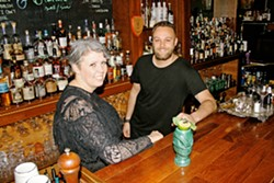 POWER DUO Sidecar Cocktail Co. Bar Manager Danielle Golden (left) and Executive Chef Kyle Rucker (right) work together to offer a one-two punch of colorful craft booze and bolder food. - PHOTO BY HAYLEY THOMAS CAIN