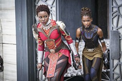 POWERFUL WOMEN Nakia (Lupita Nyong'o, left) and Shuri (Letitia Wright) join in the fight for Wakanda, proving themselves equal to men. - PHOTO COURTESY OF MARVEL STUDIOS AND WALT DISNEY PICTURES