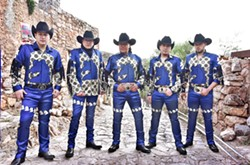 MEXICAN HEROES Bronco rides into the Fremont Theater on March 3, delivering their popular take on Norteño music is some really bitchin' costumes! - PHOTO COURTESY OF BRONCO
