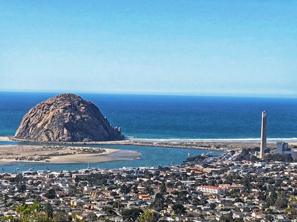 THE ROCK Black Hill, located inside Morro Bay State Park, offers 360-degree views, including a great look at downtown Morro Bay, Morro Rock, and the decommissioned power plant. - PHOTO BY GLEN STARKEY