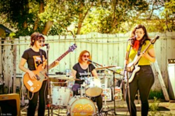 GRRL POWER All-female garage/surf rock act Bombón headlines a four-band show at Bill's Place on March 23 as part of the Rides of March vintage scooter rally. - PHOTO COURTESY OF BOMBON