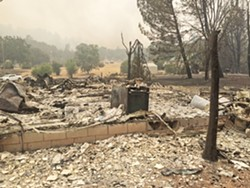 FIRE VICTIMS STYMIED Monterey County may prevent seven victims of the 2016 Chimney Fire in Lake Nacimiento from rebuilding homes due to their location in a county floodage easement. - FILE PHOTO BY BOB RUCKER