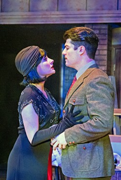 INTRIGUE When a beautiful woman and secret spy (Katie Worley-Beck, left) comes over to his apartment one night, everything suddenly changes for Richard (Timothy Stewart). - PHOTO COURTESY OF RYLO MEDIA DESIGN