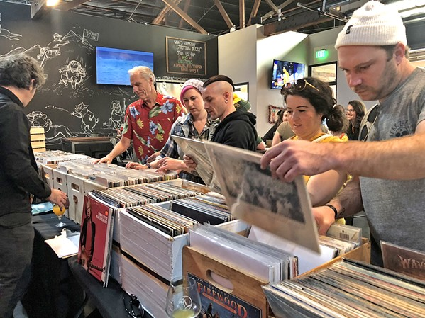 BLACK GOLD! The SLO Record Swap hosts another chance to buy some vinyl and hang with the music community on April 15, at the SLO Guild Hall. - PHOTO COURTESY OF THE SLO RECORD SWAP