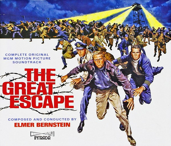 BREAKOUT CLASSIC The Great Escape boasted a star-studded cast of leading men of the early 1960s for the World War II era action flick, including Steve McQueen, James Garner, Richard Attenborough, Charles Bronson, and James Coburn. - IMAGE COURTESY OF UNITED ARTISTS