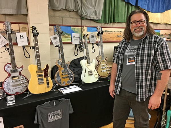 CALLING ALL SHREDDERS Mickey Kappes of Distortion Brothers Guitars is one of several vendors who will be on hand at the sixth annual Central Coast Guitar Show on April 21, at the SLO Vets Hall. - PHOTO COURTESY OF THE CENTRAL COAST GUITAR SHOW