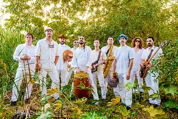 PUMP UP THE VOLUME Jungle Fire brings its Latin and Afrobeat sounds to The Siren on April 29. - PHOTO COURTESY OF JUNGLE FIRE
