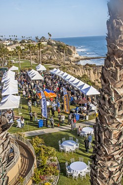 SURFER FUEL Wine, Waves, and Beyond's Barrel to Barrel event will feature more than 40 craft breweries and area wineries, plus food from Splash Cafe, Cracked Crab, Apple Farm, Gardens of Avila, Cool Cat Cafe, Marisol at the Cliffs, and Vivant Fine Cheese all at the Cliffs Resort in Pismo Beach this May 6. - PHOTO COURTESY OF WINE, WAVES, AND BEYOND
