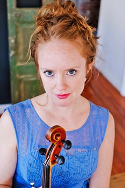 RAZZLE DAZZLE Virtuosic fiddler Hanneke Cassel and her trio play a SLOFolks show at Castoro Cellars on May 5. - PHOTO COURTESY OF HANNEKE CASSEL