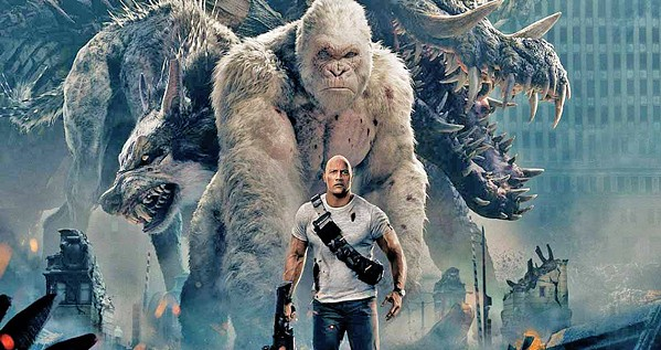 MUTANTS In Rampage, a genetic experiment gone awry leads to a gorilla turning into raging creature of enormous size. - PHOTO COURTESY OF WARNER BROS. PICTURES