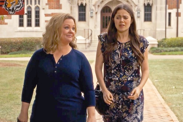 SENIOR YEAR Mother-daughter duo Deanna (Melissa McCarthy) and Maddie (Molly Gordan) navigate being in college together in Life of the Party. - PHOTOS COURTESY OF NEW LINE CINEMA