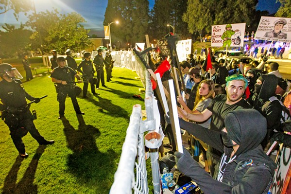 SPARE CHANGE Two visits from Alt-Right figure Milo Yiannopoulus cost Cal Poly thousands of dollars. Now the university academic senate may recommend capping the university share of security costs for speakers invented by student clubs. - FILE PHOTO BY JAYSON MELLOM